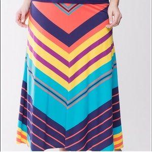 Colorful chevron maxi skirt 🌈😍